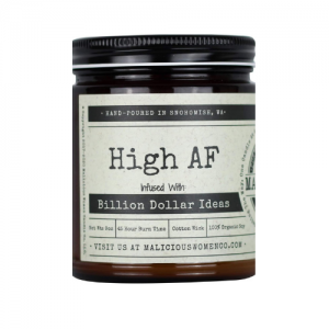 Malicious Women Candle Co - High AF, All-Natural Organic Soy Candle