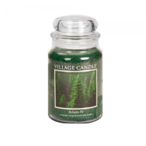 Village Candle Balsam Fir Large Apothecary Jar, Scented Candle