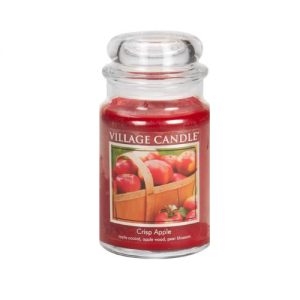 Village Candle Crisp Apple Large Glass Apothecary Jar Scented Candle