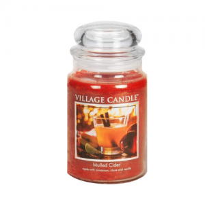 Village Candle Mulled Cider Large Glass Apothecary Jar Scented Candle
